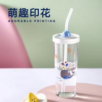 Tumbler Kartun/Tempered Tumbler Glass/Tumbler Kaca/Adorable Tumbler/