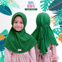 Jilbab bergo serut BPL kids Miulan kerudung anak dark Green 2-6TH