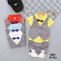 Setelan Kemeja Vest Anak Laki-laki / Set Baju Anak Import / Setelan Ke