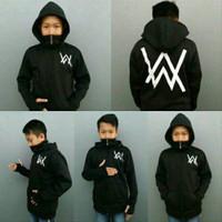 Jaket sweater anak pria aw ninja hitam hoodie murah