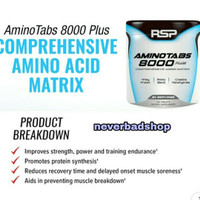 Suplemen RSP AMINO Tabs 8000 plus 325 tablets FREE TESTER