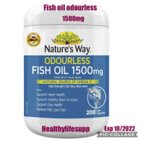 Nature's Way Odourless Fish Oil 1500mg 200 pack