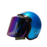 HELM BOGO RETRO JPN ICE BLUE GLOSSY (FLAT VISOR RAINBOW (