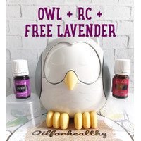 Owl diffuser yl RC free lavender young living essential oil 5 ml
