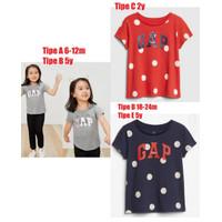 Branded Tee Tshirt GAP Kids anak perempuan