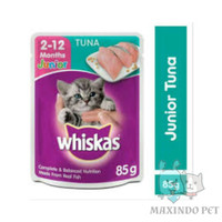 Whiskas pouch junior tuna 1dus/24pc