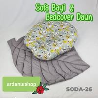 Sofa bayi dan Bed cover daun