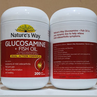 natures way glucosamine fish oil 500 mg 200 caps ori ausie