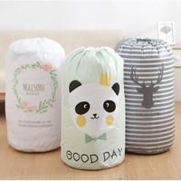 Keranjang Baju Kotor Lipat / Laundry Bag Tutup Serut [Random]