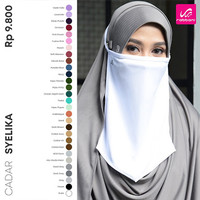 Cadar Tali Syelika Hyget Rabbani Mask Polyester Anti Virus restock New - Abu-abu