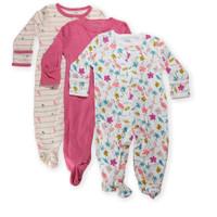 [PRELOVED] Mamas Papas Sleepsuit 0-3M piyama bayi tutup kaki -FLAMINGO