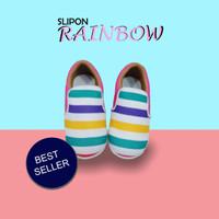 Sepatu Anak Slip On Rainbow (OK04)