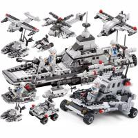 Mainan Edukasi Anak Laki Laki Lego Block Navy Seal Army Vehicle - Tanpa Box