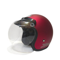Helm bogo retro jpn arc maroon doff (kaca cembung bening)