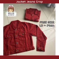 Jacket jeans crop wanita jaket denim 3 warna
