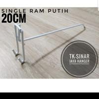 single ram 20cm putih tebal gantungan cantolan asesories display