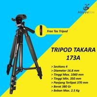 Tripod Takara Eco-173A Kamera Mirrorless | HP | DSLR
