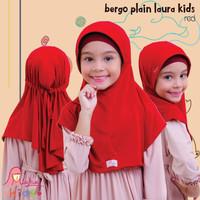 Jilbab bergo serut BPL kids Miulan kerudung anak Merah 2-6TH