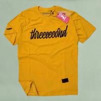 kaos distro 3second pria dewasa #TC01 - Kuning, M