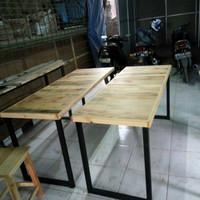 meja makan cafe jati belanda 160x60x75