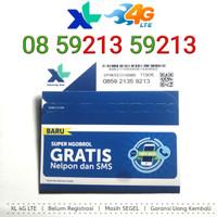 LANGKA Kartu Perdana Nomor Cantik XL 4G LTE 08 59213 59213