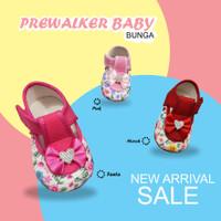 sepatu prewalker bayi perempuan Motif Bunga