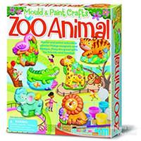 4M Zoo Animals Mould and Paint - Mainan Kreatif Tanah Liat Hewan