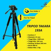 Tripod Takara Eco 193A / Tripod Kamera DSLR Free Hoder U