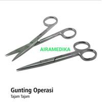 Gunting Operasi Lurus 14cm Stainless steel Tajam-tajam