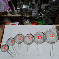 Saringan bubur / buah / gorengan halus stainless 10 cm