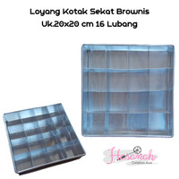 Loyang Kue Brownies Sekat 20x20 - Sekat 16 Lubang