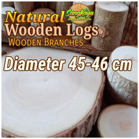 Kayu log kayu wood 45-46 cm talenan daging bahan meja samping dekorasi