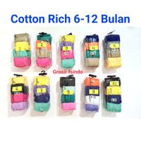 Cotton Rich legging celana bayi cotton rich - 6-12 bulan, Polos