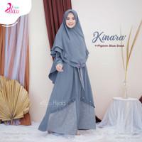 Gamis wanita Kinara by Alwa hijab - steel blue, L