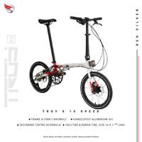 Sepeda lipat Element Troy X 10 Speed Gen 3
