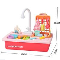 Home Kitchen Mainan Cuci Piring Anak - Wastafel - Kitchen Sink Set
