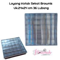 Loyang Kue Brownies Sekat 24x24 - Sekat 36 Lubang