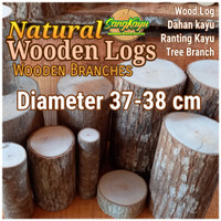 Kayu log kayu wood Dm 37-38 cm talenan bahan meja samping dekorasi