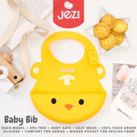 Baby Bibs Celemek Bayi JEZI Silikon BPA Free