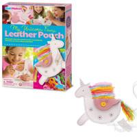 4M Leather Pouch Unicorn - Mainan Kreatif Menjahit Tas Kulit Imitasi