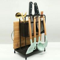 Rak Dapur Tempat Pisau Talenan / Sendok / Garpu / Tutup Panci