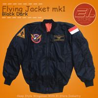 jaket bomber pilot pria el store industry waterproof non patch