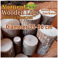 Kayu log kayu wood Dm 35-36 cm talenan bahan meja samping dekorasi