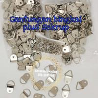 gantungan bingkai 360 plus sekrup 5 mm nikel/cantelan pigura-144 pcs - Gb 360 D