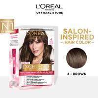 L'Oreal Paris Excellence Creme Hair Color #4 Brown pewarna rambut