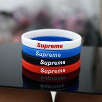 Gelang karet Supreme - Barcelet Rubber - Aksesoris Pria&Wanita - Biru