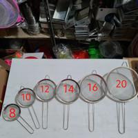 Saringan bubur / buah / gorengan halus stainless 16 cm