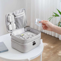 PANACHE Waterproof Imiidu Double Layer Cable Travel Bag Tas Kabel USB