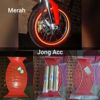 Stiker Velg Pelek Ban Motor Mobil lampu nyala reflektiv
