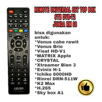 REMOTE UNIVERSAL SET TOP BOX STB DVB-T2 JUNDA RM88